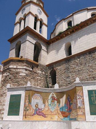 Monument Apostle Paul - Church St. Nicholas: Golden mosaic
