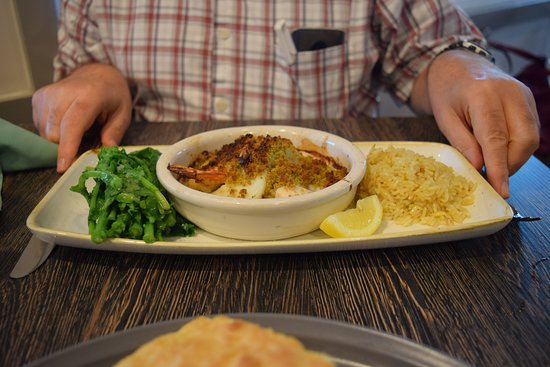 The Landing: Seafood Casserole with Rice and Greens