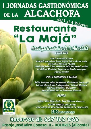 Restaurante TAPERIA La Maja: JORNADA GASTRONOMICA DE LA ALCACHOFA