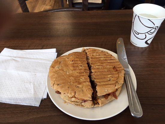 Frimley, UK: This lamb and mint wholemeal panini is delicious