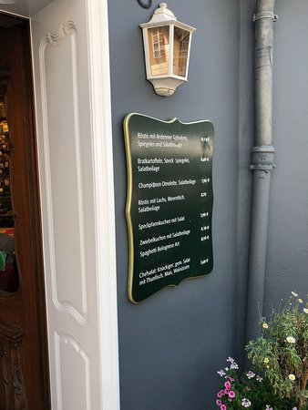 Cafe Kaulard: Menu na entrada