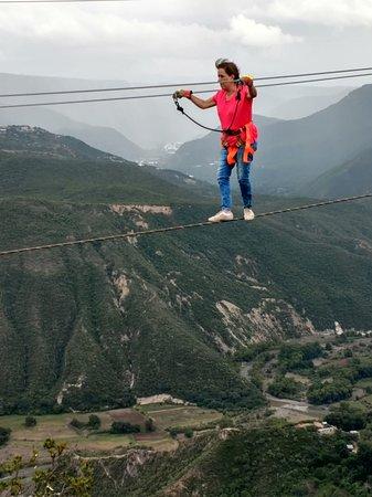 Pena Del Aire: Caminar en cable