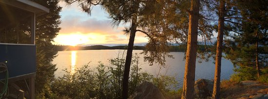 Vermilion Bay, Canada: Morning has broken over Richard Lake