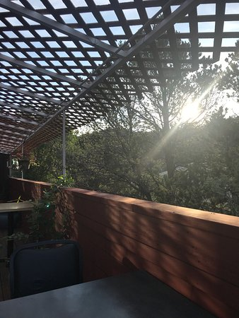 Cedar Crest, NM: Super cafe with views that are amazing!