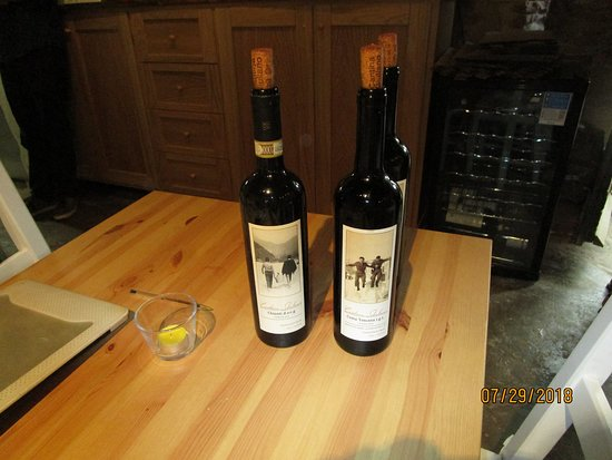 Casciana Alta, Italy: some of their wines