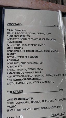 ‪‪Ayer's Cliff‬, كندا: fun cocktail menu‬
