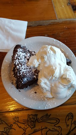 Fritto Misto: Flour-less chocolate cake for dessert