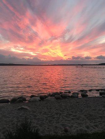 Virum, เดนมาร์ก: Solnedgang ved Furesøen