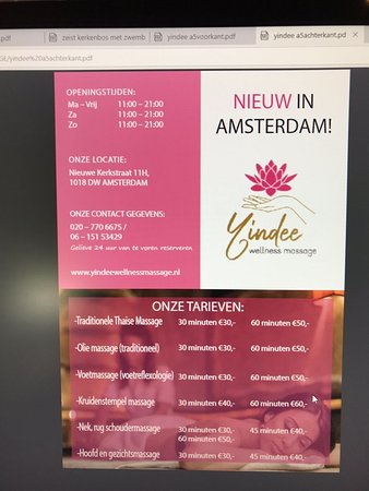 Yindee wellness massage