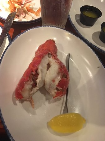 Grilled lobster tail just came steamed
