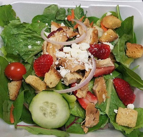 Watseka, IL: when we have our delicious Strawberry Chicken Breast Salad Special