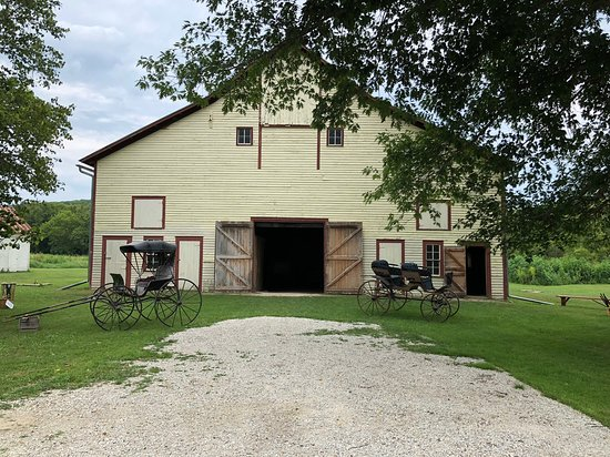 Old farmhouse in historic forestville, storing old machinery and tools