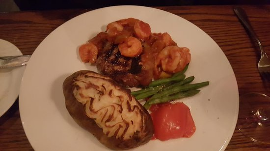 Top Sirloin With Cajun Shrimp And Twice Baked Potato Picture Of The Keg Steakhouse Bar Windsor Riverside Tripadvisor