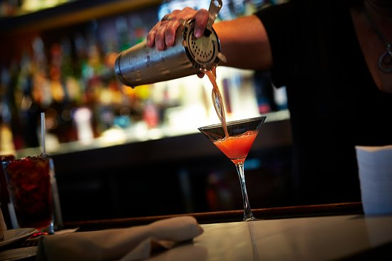 Enjoy a cocktail at the bar