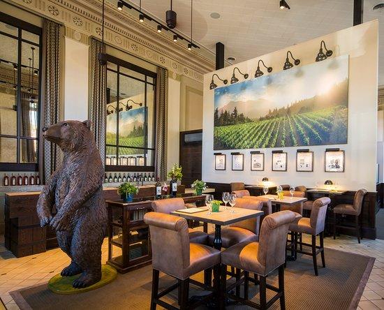 Huge Bear at The Bank Tasting Room
