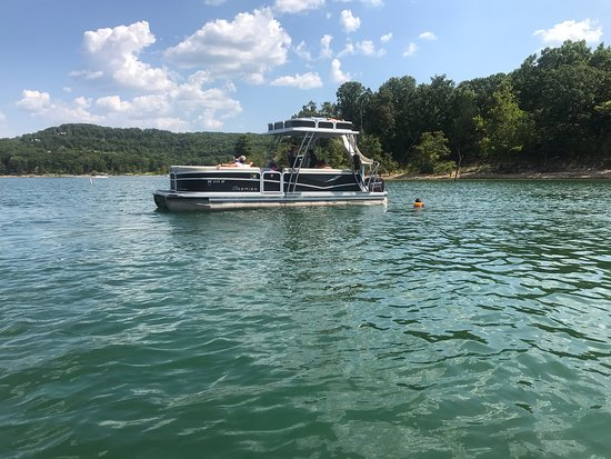 Pontoon Boat With Slide Easily Holds 12 People And A Huge