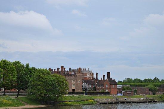 Hampton Court across the river Thames in Hampton,m England