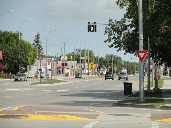 Morris, Канада: One traffic light town