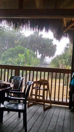 The Oar House: Torrential downpour just added to the cool beachy vibe