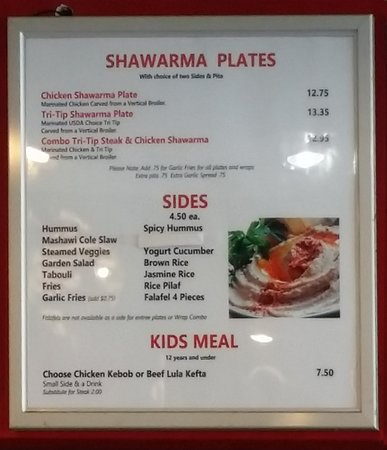 Shawarma Prices Foto De Mashawi Grill Redondo Beach Tripadvisor