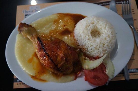 Chavin de Huantar, Perù: Chicken with rice and potatoes