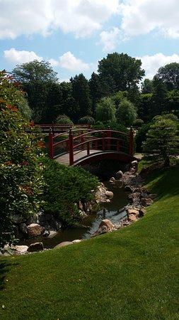 Normandale Japanese Garden bridge