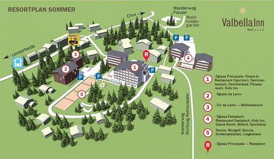 Valbella, Switzerland: Map