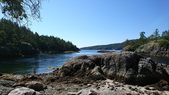 Halfmoon Bay, Canada: View from end of trail
