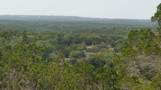Pedernales Falls State Park: A view from a summit on one of the hiking trails