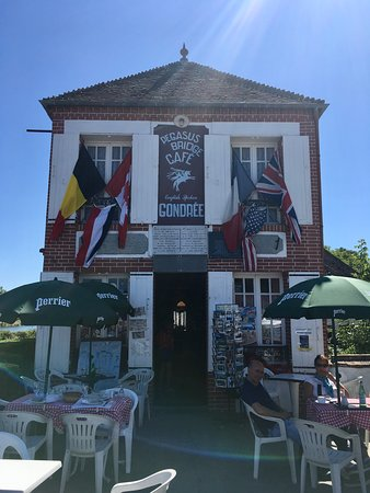The famous Cafe Gondree at Pegasus Bridge