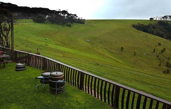 Dudley Cellar Door: Try your luck and a bit of golf, see if you can land your ball in the boat across the hill.