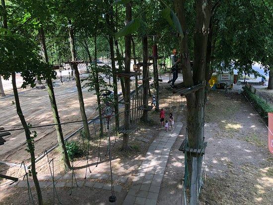 Wladyslawowo, Polen: Tarzanpark Hochseil-Einrad
