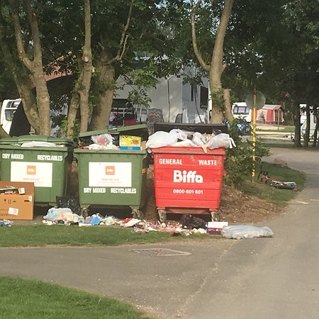 Stinking overflowing bins for the duration of our 4-night stay