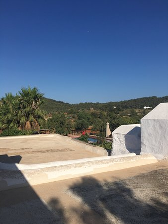 Santa Agnes de Corona, Spanyol: view of country side /hillside