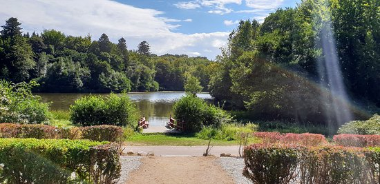 Haslev, Denmark: View from Villa-Gallina to the lake