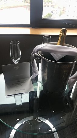 Hilton Belfast: Compliments from the hotel for celebrating our anniversary.