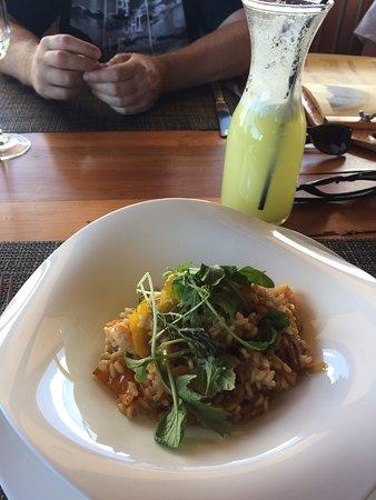 Te Moai Sunset: Delicioso risotto