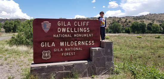 Liam at Gila Cliff Dwellings