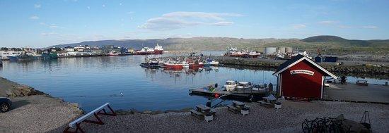 Batsfjord, Noorwegen: Näkymä ravintolasta