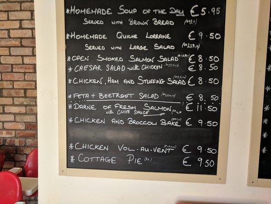 Sallins, Ирландия: Always a good sign to have erasable menu, fresh ingredients