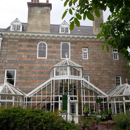 Sausmarez Manor Greenhouse To The Side Of House Check For Surprising Residents