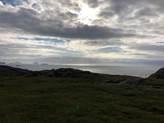 Carloway, UK: View from hill above Blackhouse Village