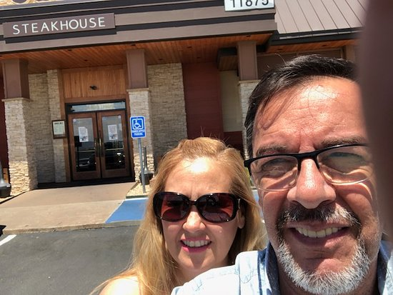 my wife and i outside the restaurant picture of outback steakhouse el paso tripadvisor tripadvisor