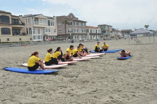 Beach surf lessons at San Diego Surf School | PB Surf Shop