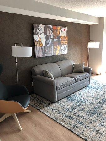 Re-decorated Junior Suite Living area