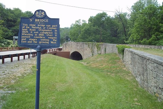 Claysville, PA: S-Bridge on Route 40