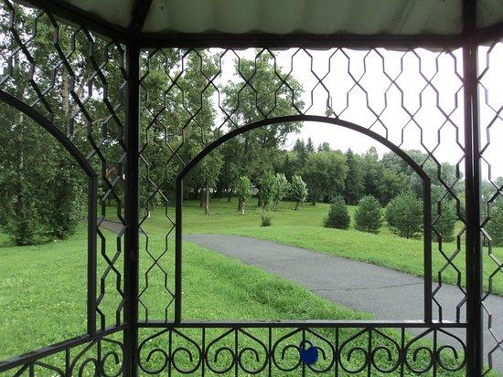 Altai Krai, Russland: Многочисленные беседки на территории санатория