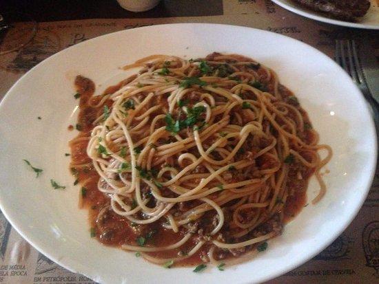 Paraty 33: Espaguete a bolonhesa (estava delicia)