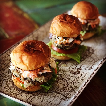 Tuna Sliders with Spicy Cold Slaw