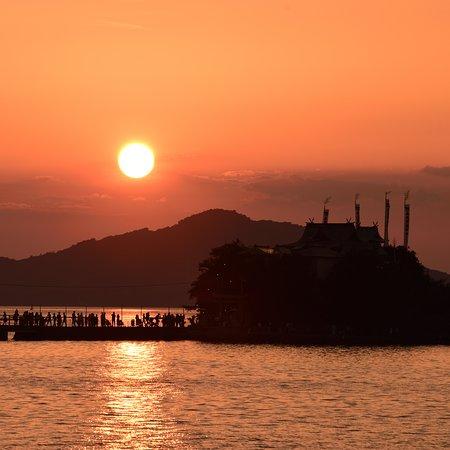 夕焼け空と津島さん